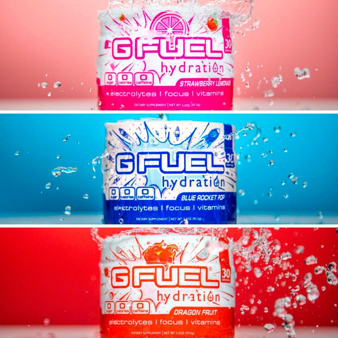 Looking for that caffeine-free drink that will help you focus? Then grab yourself a #GFUEL Hydration at ! It is filled with vitamins without sugar or calories. Use Our Code 'EsportsMobile' for a 30% #discount. 😋#Esports #Games #Gaming #Gamers #GamingLife