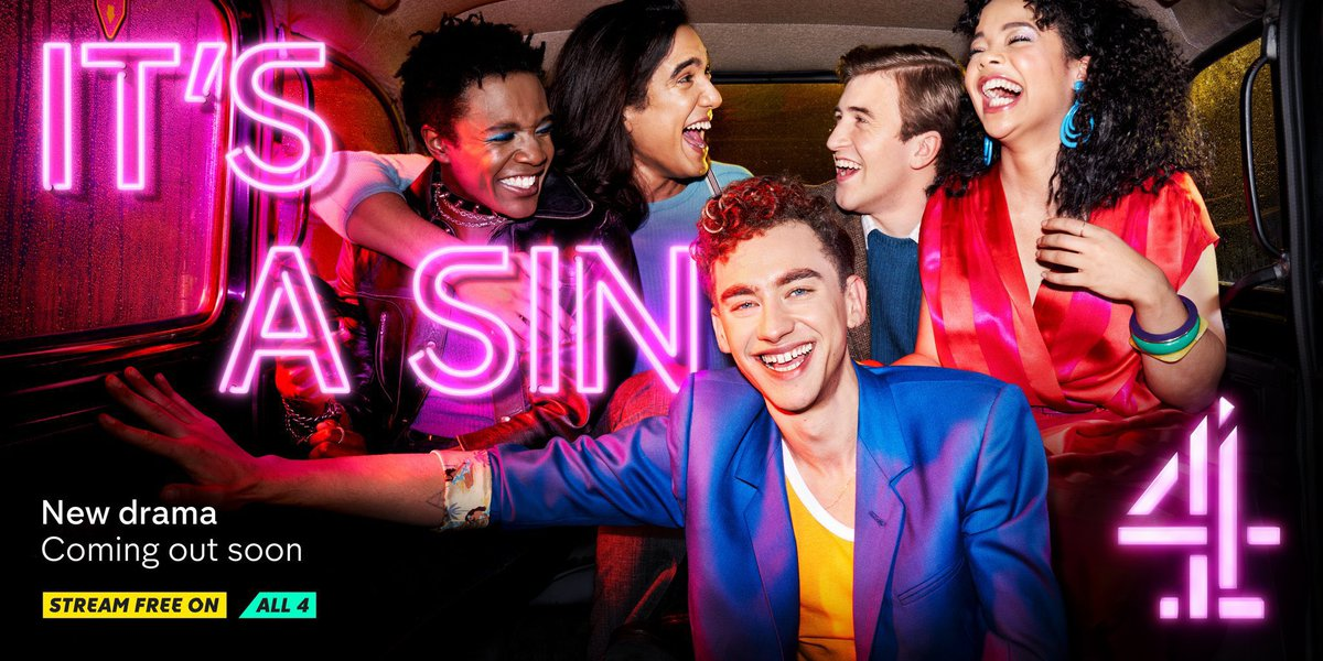 Started watching #itsasin on Channel 4 last night. Really worth a watch. Wonderful performances.  An important telling of a sometimes hidden history #hiv #aids
