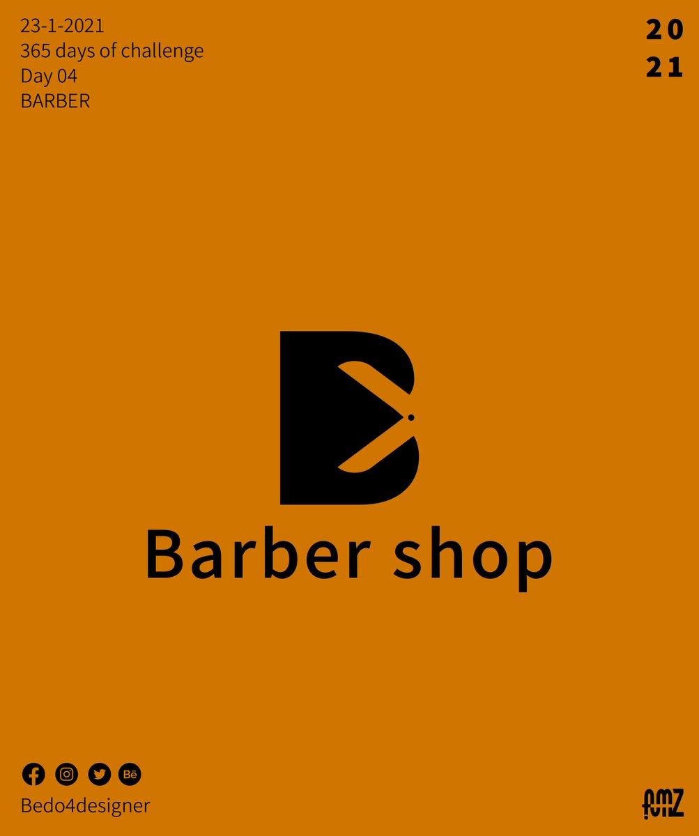 BARBER ✂️✂️ Day 4 😁💙  #365_days_of_art #365dayschallenge #artwork #Logo  #brand #mark #عيشها_فن #عشها_فن #barbershop #barber #amz_designs