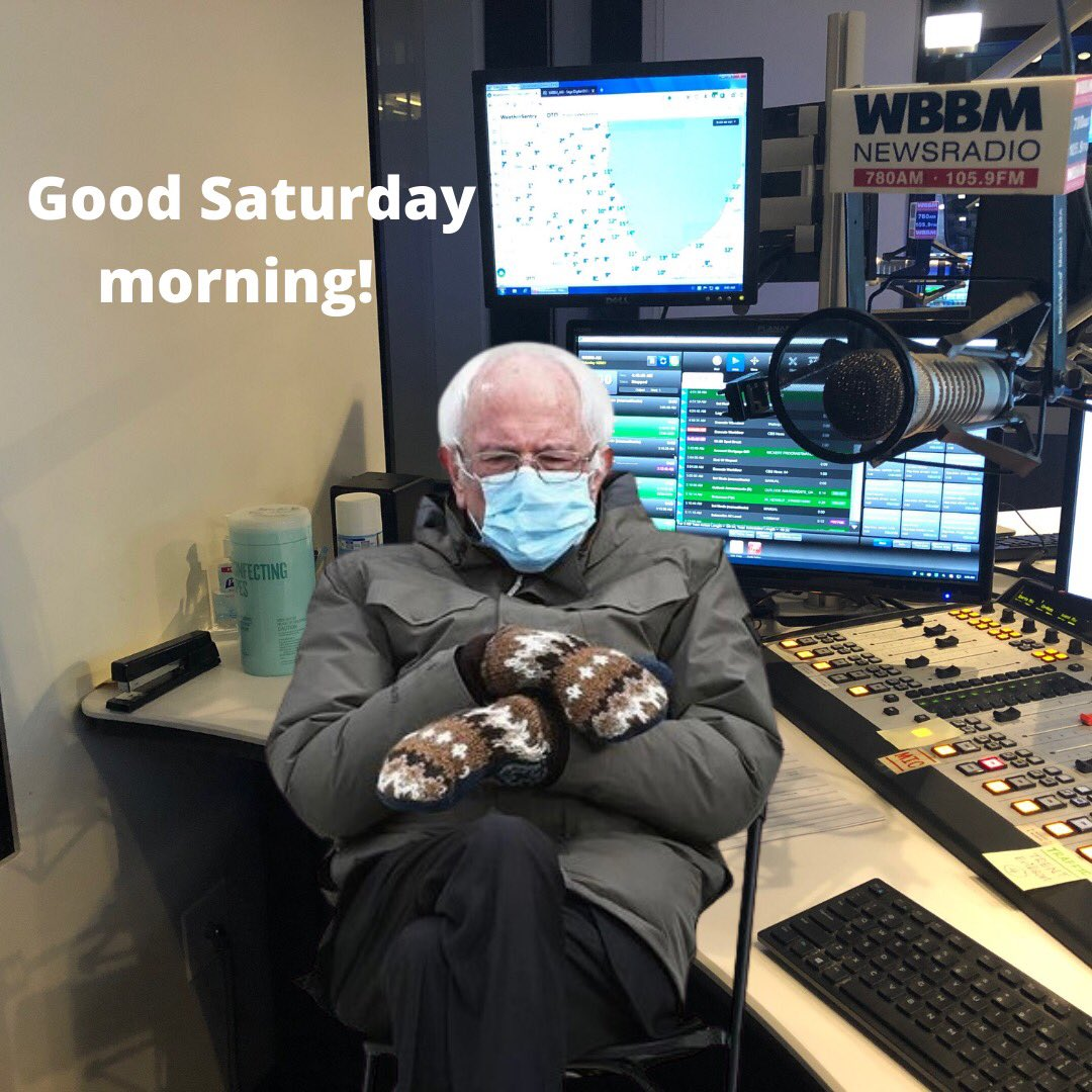 Welcome to the weekend! Bernie, ah I mean, BERNER at the anchor desk along with @robhart1980 @neilfiorito and @rickgreggsports #news #saturdaymorning @wbbmnewsradio