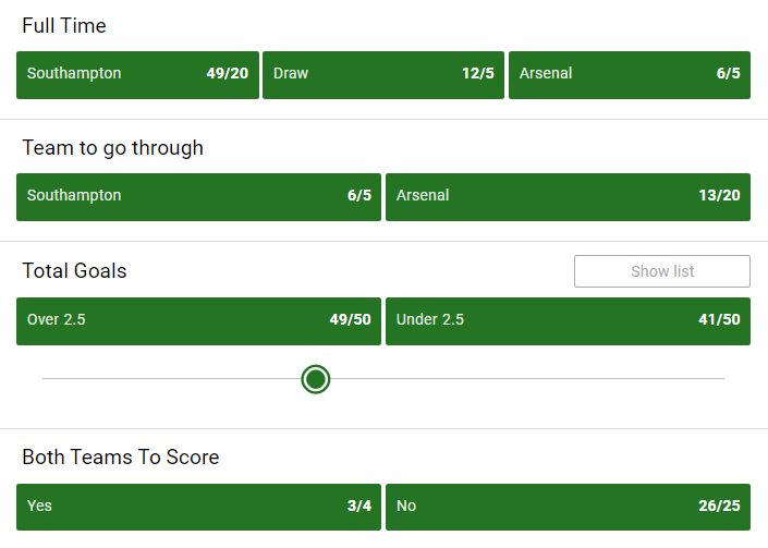 Today's FA Cup fourth round action kicks off at St Mary's in just over an hour ⌛️  The Saints have never defeated the Gunners in the FA Cup, could today be a first? 🤔  All markets:  🔞   #SOUARS | #FACup