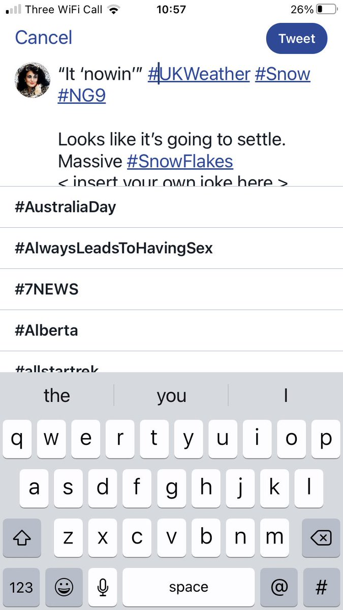 What's #AlwaysLeadsToHavingSex all about then?  In my case it was a burst hot water bottle & my ex. I'm in talks with Mills & Boon. Obvs 🙄