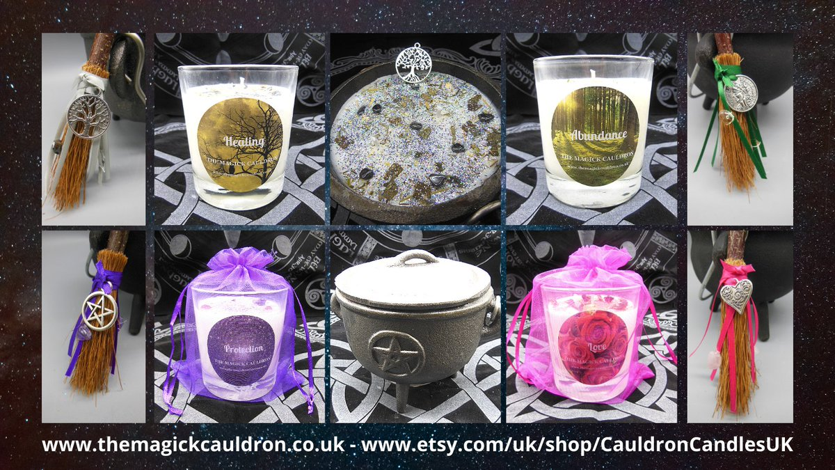 Here are some our #candles for Protection, Healing, Abundance, and Love - available at  & !  #UKGiftAM #UKGiftHour #Crafturday  #ValentinesDay #SaturdayMorning #Wiccan #Pagan #candle #scentedcandles