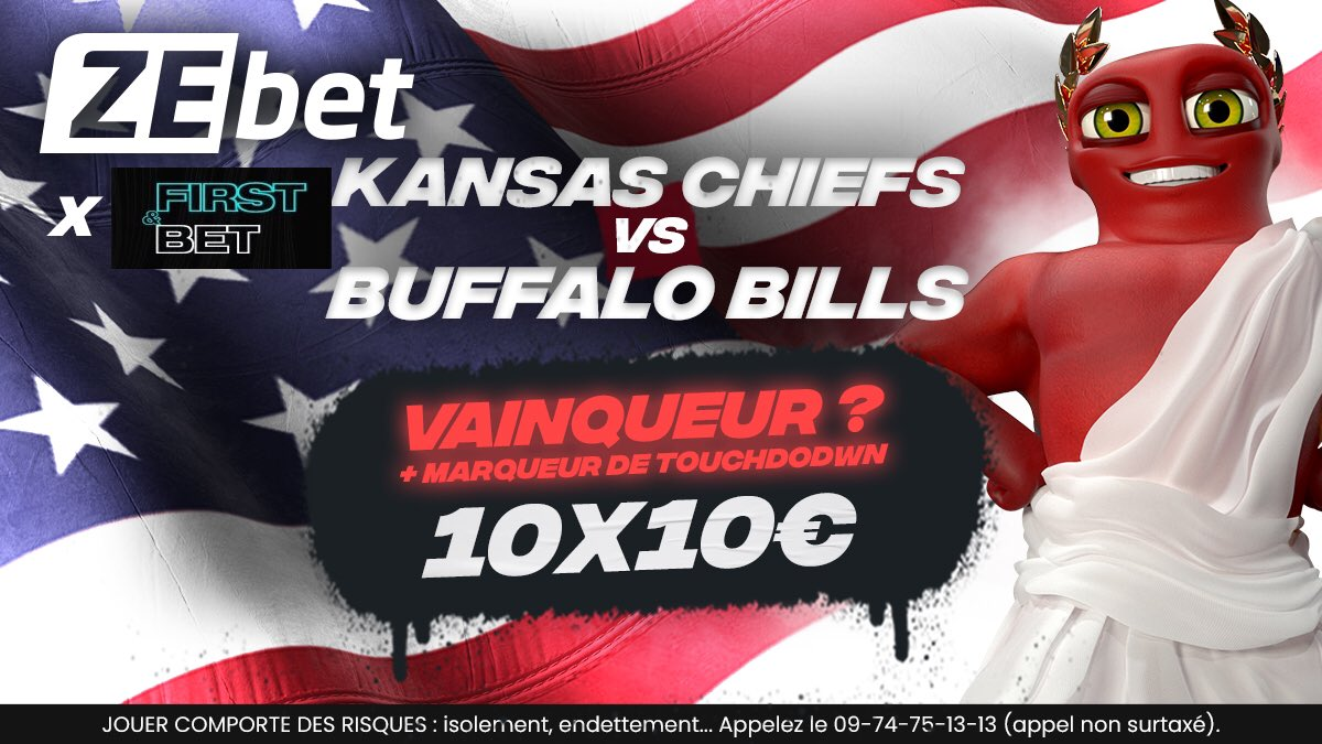 🎁 JEU CONCOURS 🔥  ⏰0h40 24/11  Tentez de remporter 100€ de Freebets chez @ZEbetFr .     👉 Pour cela, RT + Follow + donnez votre vainqueur & un marqueur de Touchdown entre les #Bills & #Chiefs   N'hésitez pas à venir découvrir la carte #NFL  ⬇️⬇️