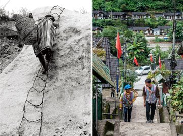 China poverty reduction miracle in wrinkles of Earth Photo