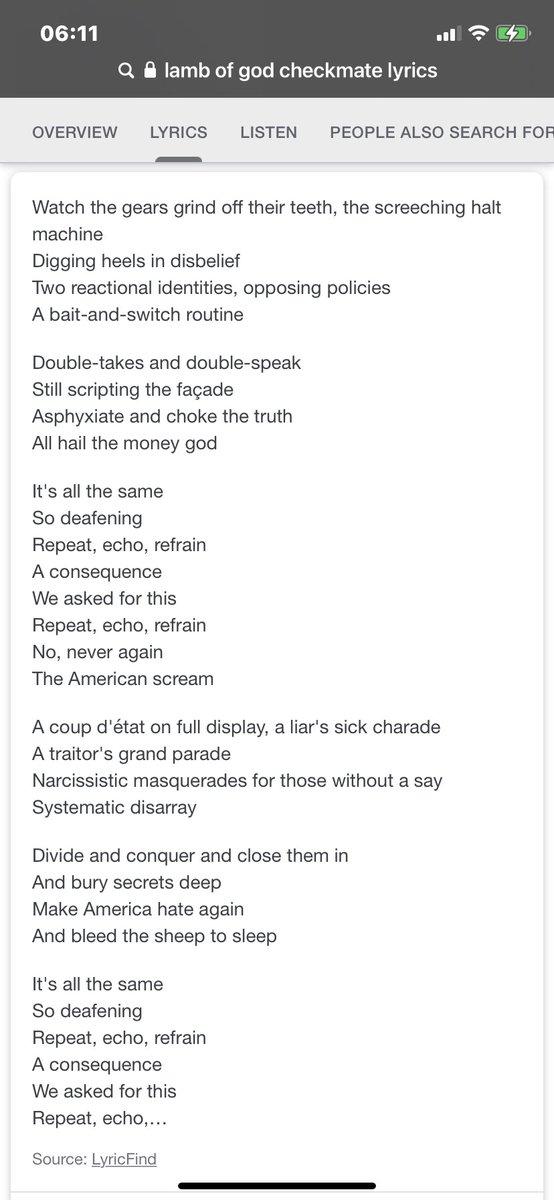 #LambofGod #Checkmate lyrics #song #2020Election #Political #1984IsHere #Accountability #Agenda2030