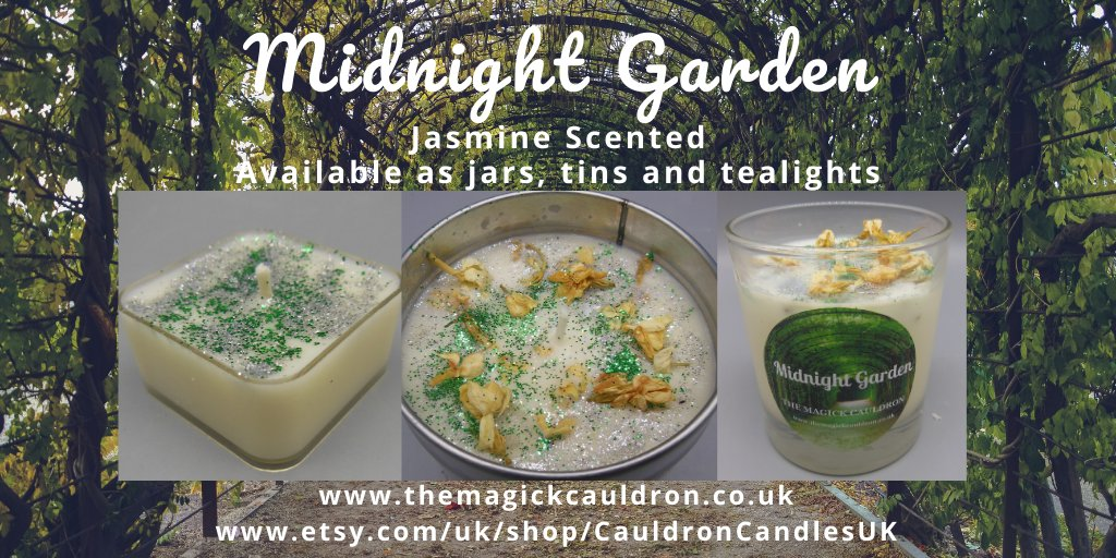 Looking forward to summer? This is our Midnight Garden #candle - take a midnight stroll in a garden and enjoy this heady floral cocktail of jasmine and patchouli!   Find us at  and   #candle #giftideas #vegan #scentedcandles #gift