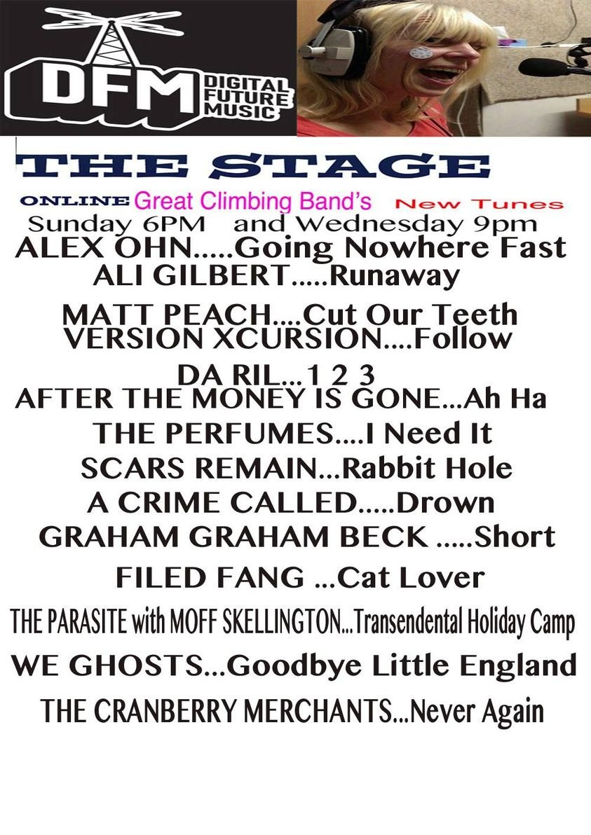 """SUNDAY 1PM EST & WEDNESDAY 4PM EST! 😃🎶💕 The Cranberry Merchants return to """"The Stage"""" on the UK's @dfmtime Radio!  Thanks so much for including us in this amazing line-up!! TUNE IN:   #indiemusic #TuneIn #ThankYou #sundayvibes #Wednesdayvibe"""