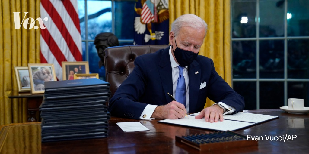 In his first few days as president, Biden signed a slew of executive orders covering policy on Covid-19, global warming, immigration, and racial justice.  Here's what to know about his flurry of executive orders: https://t.co/3Vj52XzFpU https://t.co/VH8FYSZLem