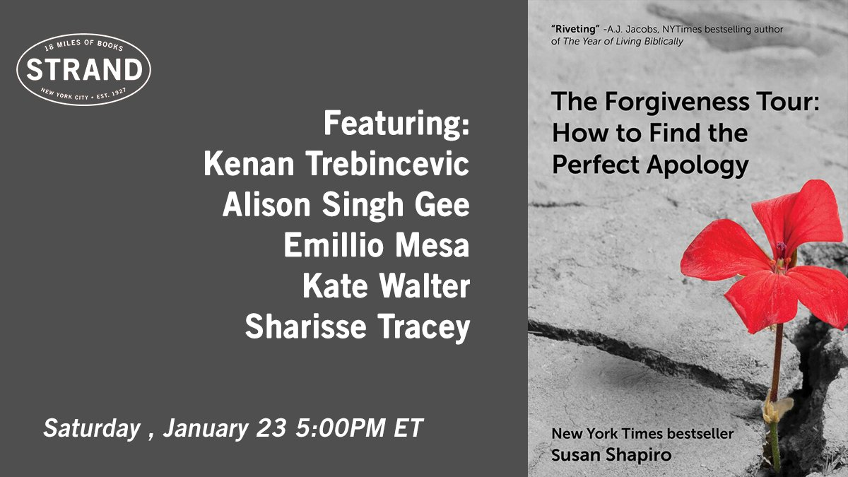 Join @Susanshapironet and the luminary writers she interviewed in her memoir as they discuss whether forgiveness is possible, first-person writing, and why publishing well is the best revenge. Today at 5pm ET. Tickets: https://t.co/qgaHELUclR #virtualevent https://t.co/59HntyqOAU