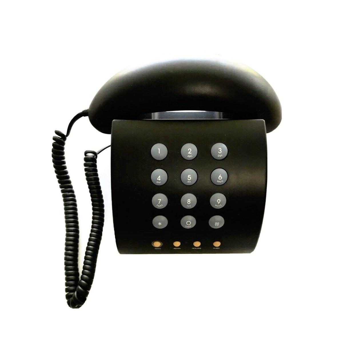 Black #MichaelGraves MG1000 phone up on the site soon  #vintage #vintagephone #90sbabies #interiordesign #interiorstyle #modernism #postmodern #1990s⠀ #modernism #postmodern #postmoderndesign #postmodernism #interior #decor  #classic#timeless#design #vintage#vintageshop