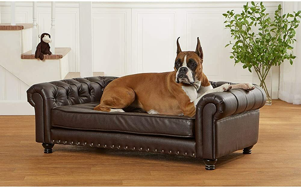 Enchanted Home Pet Wentworth Brown Sofa Dog Bed  #gifts #giftideas #dog #cat #puppy #pets  #blackfriday #thanksgiving #cybermonday @amazon #amazon #primeday