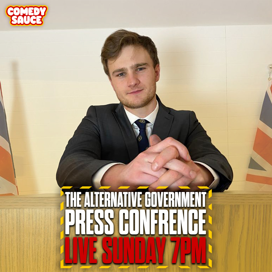Ad: Tonight, CCHQ advisor Rafe Hubris (@JoshBerryComedy) will lead The Alternative Government Press Conference. Watch LIVE from 7pm:     A @comedysauceuk Production🥫