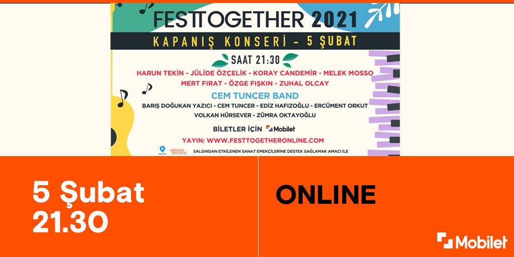 Türkiye'nin iyilik odaklı festivali Festtogether, 2 Ocak ve 3 Ocak'taki yayınlarının ardından kapanış konseriyle evinize geliyor🎉