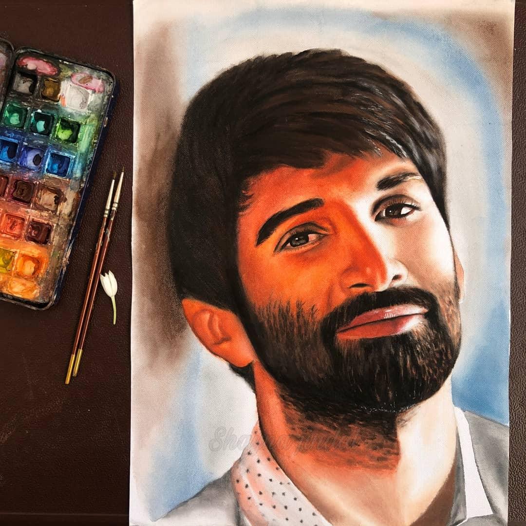 Painted this portrait 💕❤️ #AdityaRoyKapur  @governorswaraj