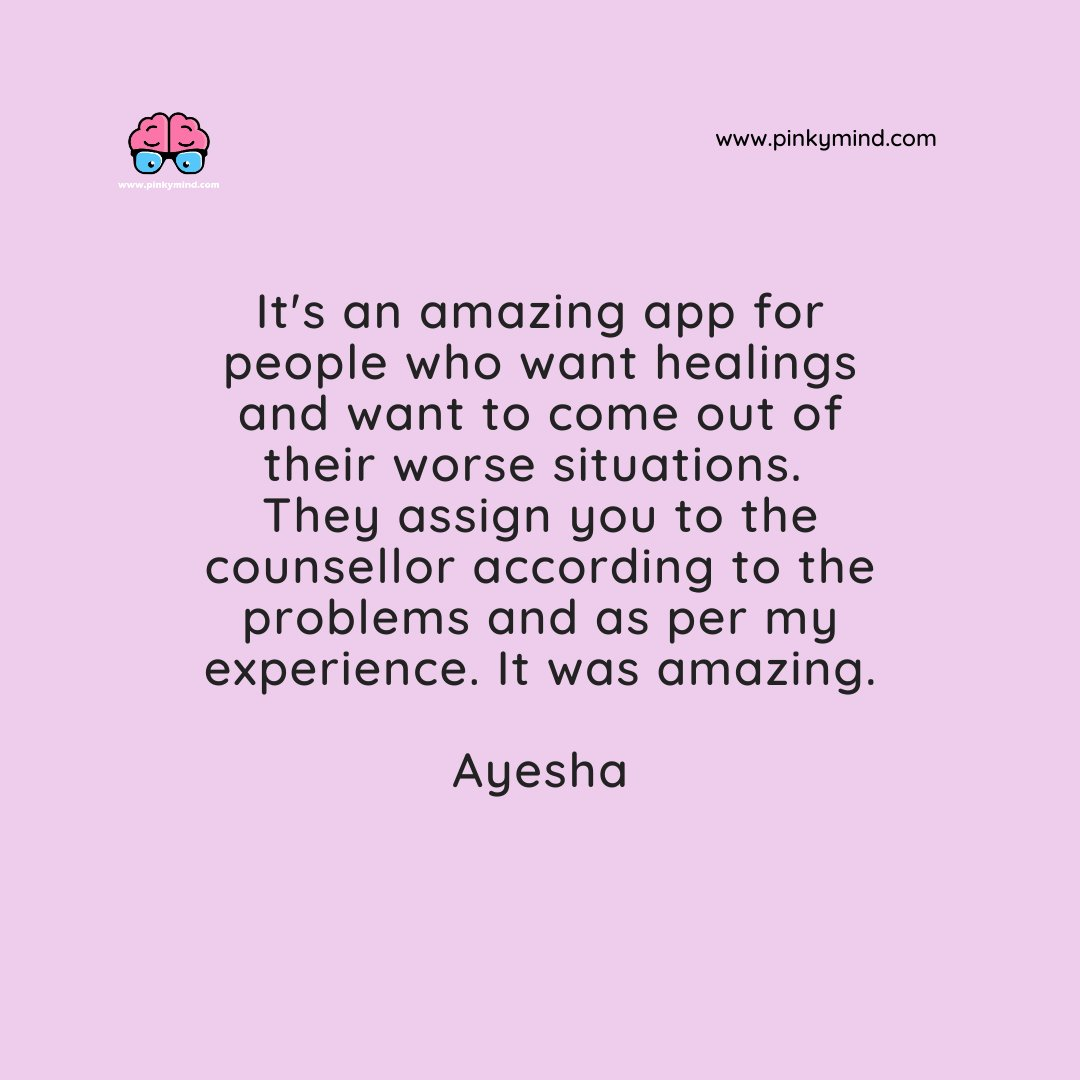 It's an amazing app for people who want healings and want to come out of their worse situations.  They assign you to the counsellor according to the problems and as per my experience. It was amazing.  #inspiration #motivation #client #testimonial #instagood #mentalhealth