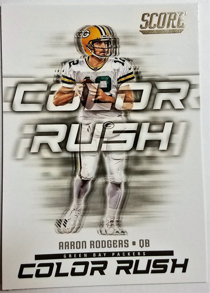 #Packers   AARON RODGERS #5 COLOR RUSH #NFL 2018 PANINI-SCORE #Sportscards