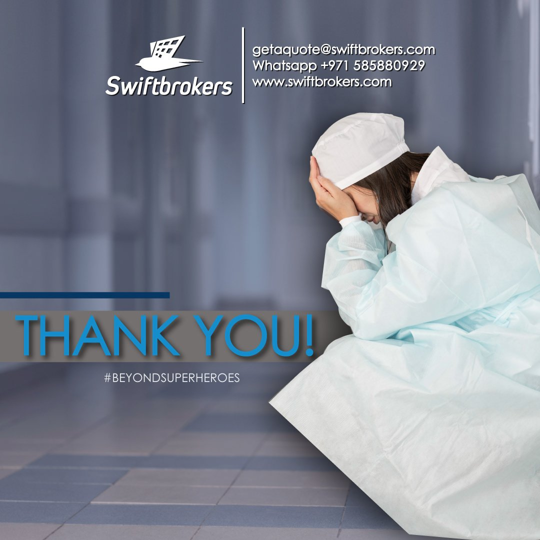 Thank you for your none stop devotion during this crisis.  #Swiftbrokers #swiftbrokersfamily #beyoundcare #beyondsuperheroes #Healthcare #healthcareheroes #doctors #nurses #pharmacists #health #life #staysafe #stayhome