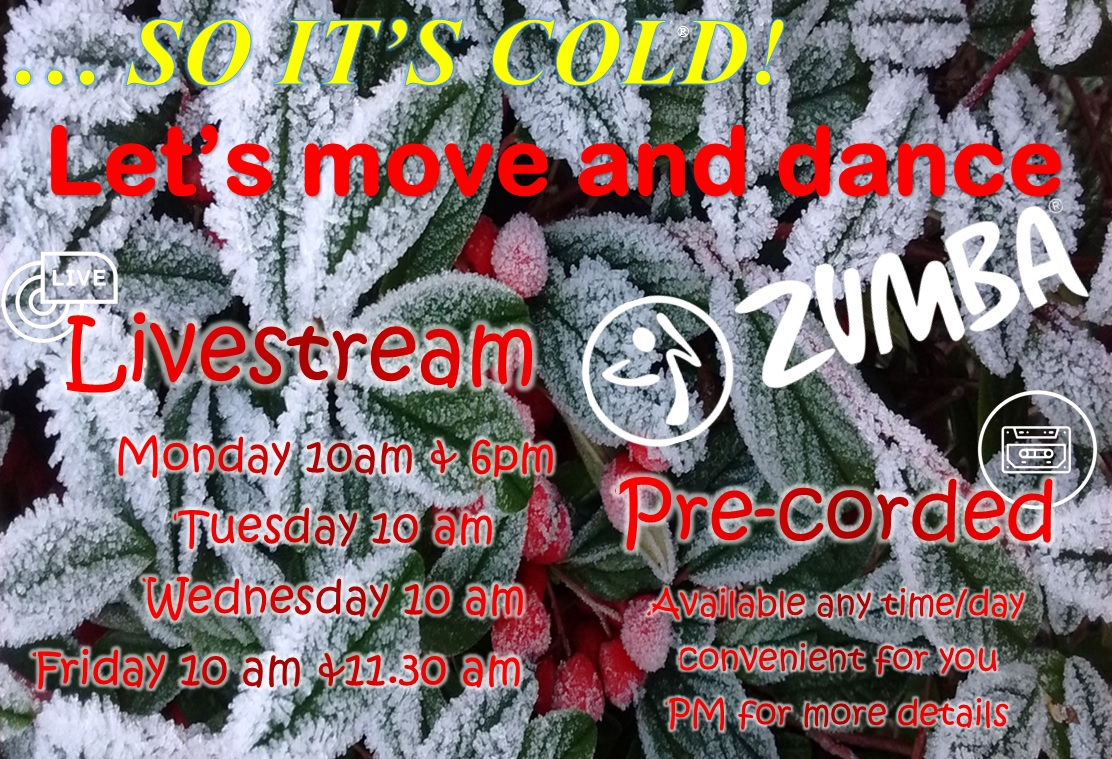 #Zumba - 25-29 Jan #dance, #shimmy, #laugh and have a #greatworkout 😅💃 #Livestream #Zoom  & #prerecorded  📹📼 .@CartertonComm .@ActiveWomenOxon .@GAOxfordshire .@WitneyEvents .@CartertonBiz