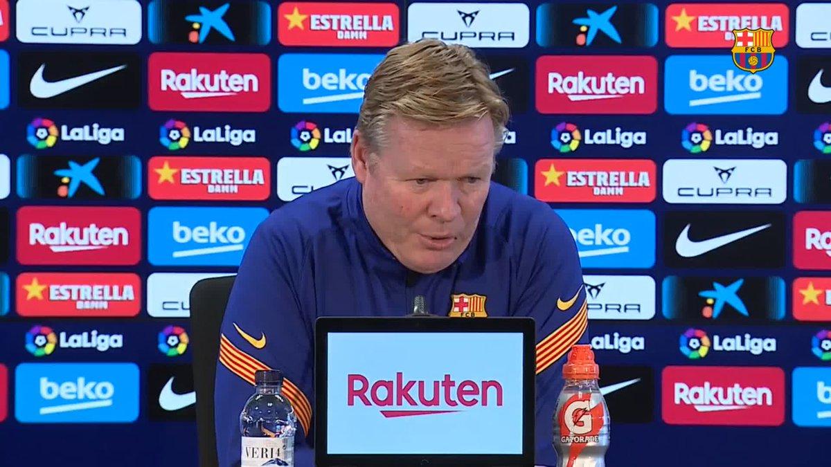 """🔊 @RonaldKoeman: """"És important recuperar jugadors"""" #ElcheBarça"""