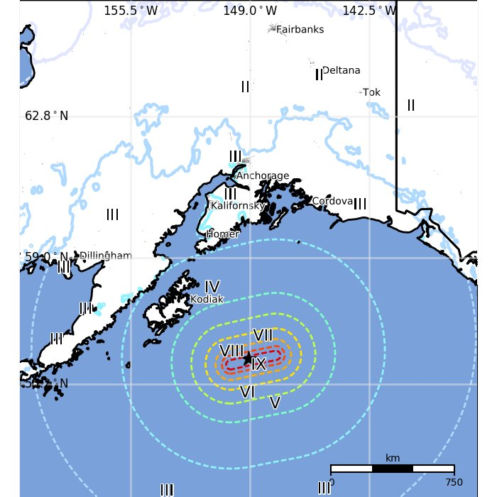3 years ago today, a M7.9 strike-slip earthquake occurred in the Gulf of Alaska, tying with June 2014 Aleutian Is. and November 2002 Denali earthquakes as the largest in the United States during the 21st century (sixth in recorded history).  Image courtesy from USGS. https://t.co/xSy59XDWXn