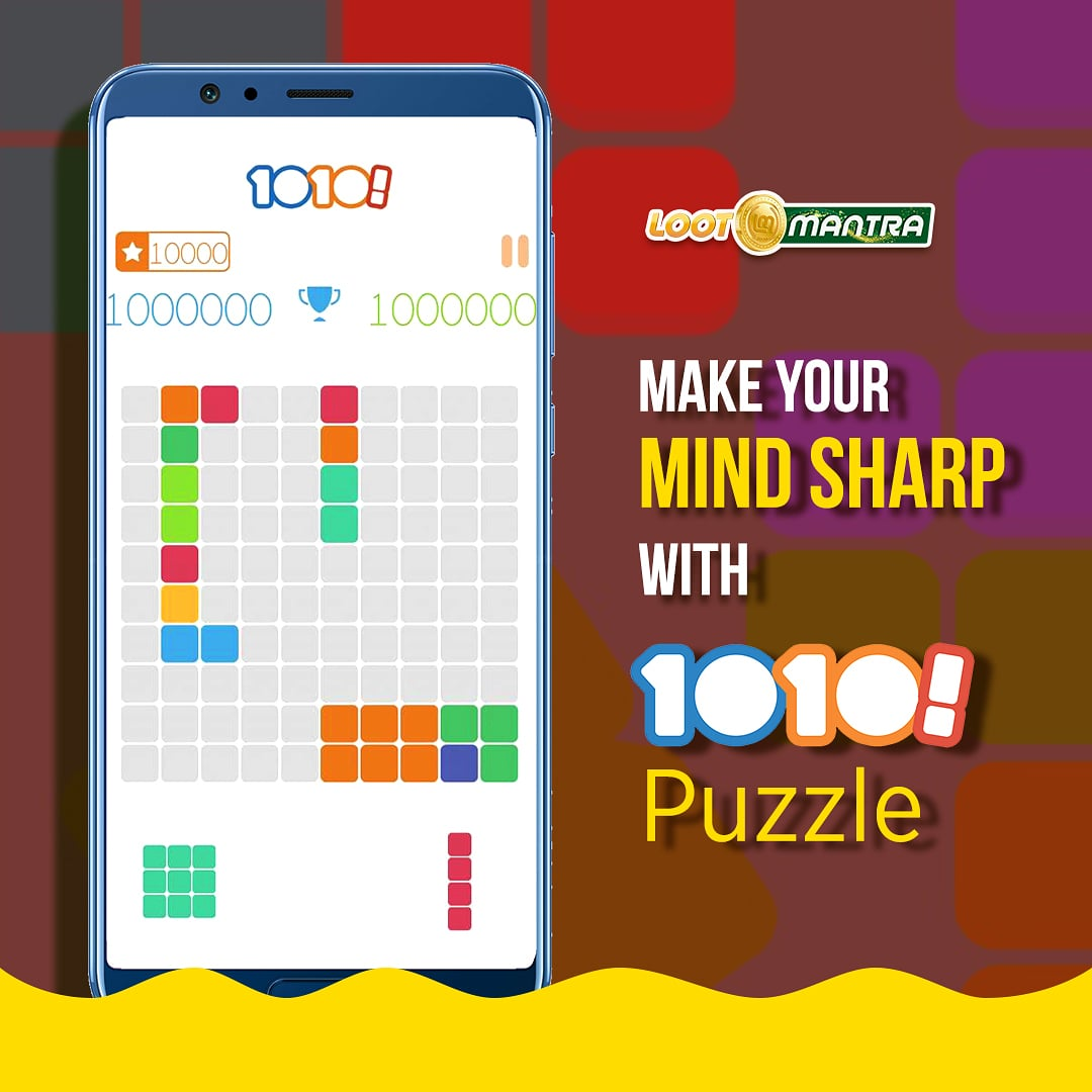 Like Solving Puzzles?  Play our exclusive 1010 puzzle game today.   Visitto download the app now.  #LootMantra #gaming #gamingmemes #gamingcommunity #gaminglife #instagaming #retrogaming #onlinegaming #Gameskhelopaisejeeto