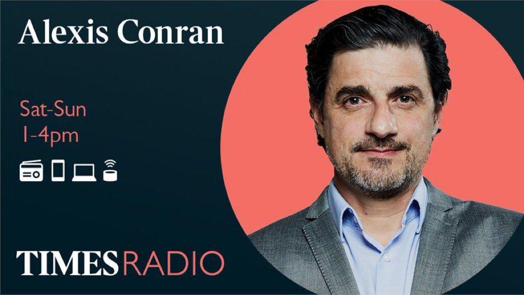 Join me from 1pm @TimesRadio -Newsreview @JustineGreening @MaryCreagh_ @IoWBobSeely - Author Ian Rankin @Beathhigh - Gambling @carolynharris24 @dealmeoutcic - Russia and Belarus @Billbrowder @BelFreeTheatre - Theatre @javaadalipoor - Vaccine take up @NoreenKhan12 1/2