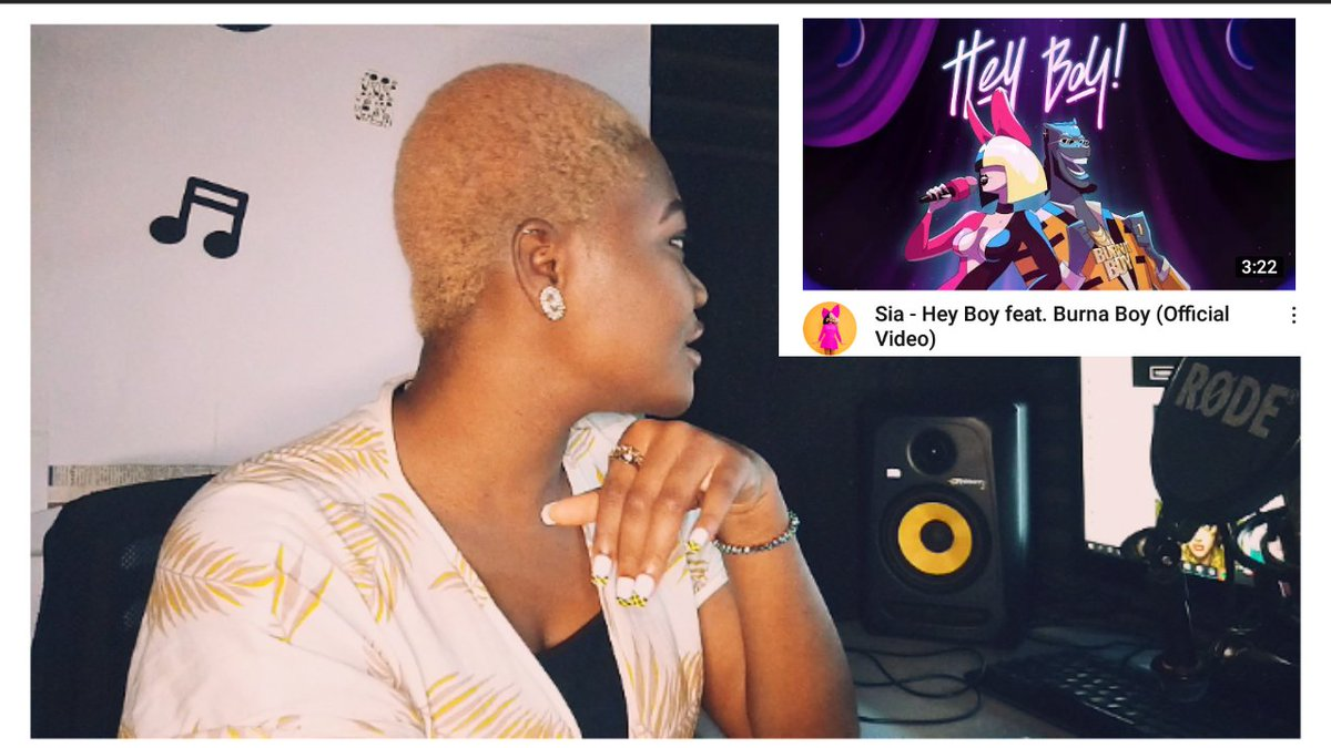 New YouTube video!!! I reviewed Sia and Burna boy's song #HeyBoy . This is NOT a reaction, it's a REVIEW. Go check it out. Thank youu ❤❤❤