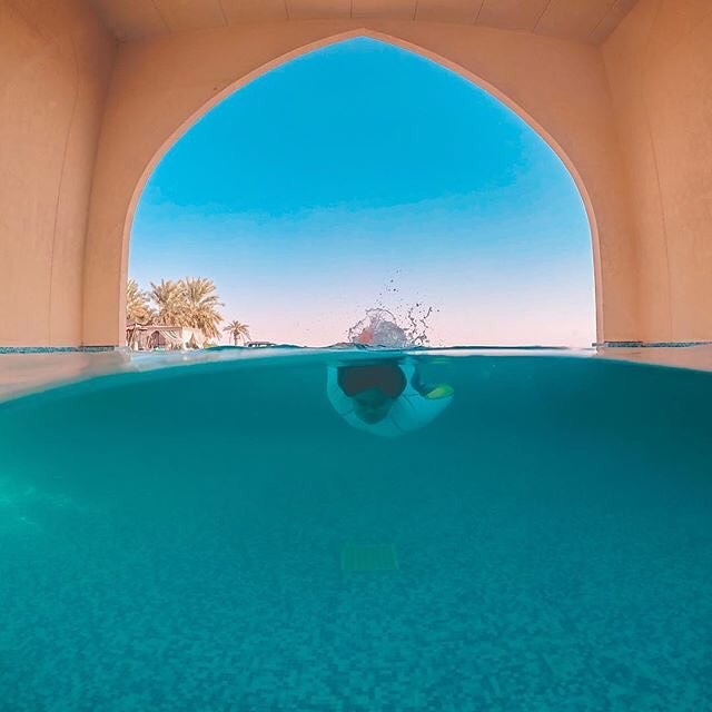 A beautiful break in the extraordinary Liwa desert is at the Tilal Liwa Hotel #InAbuDhabi!  Who loves this stunning capture from the hotel's infinity pool by gopro_patrick/Instagram ? #StaySafe @TilalLiwainfo https://t.co/UHiPHQ992h