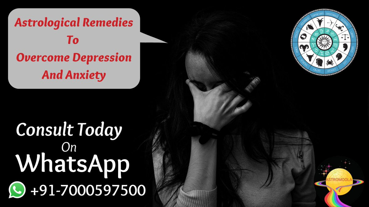 "Whether you believe or not, #Vedic Astrology can sometimes help you to overcome #depression and #anxiety.  Feel free to consult before you go into ""severe depression"".  WhatsApp: +91-7000597500 Watch Video:   #astrology #Horoscope #Remedy"