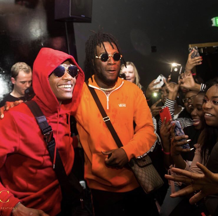 At no 8;  #NowPlayingOnMaxFM: #Ginger~ by @wizkidayo ft  @burnaboy   Live on #MaxWorldChartShow with @Ewoma_O   Listen online via   #Max1023FM #Max909FM #SaturdayVibes