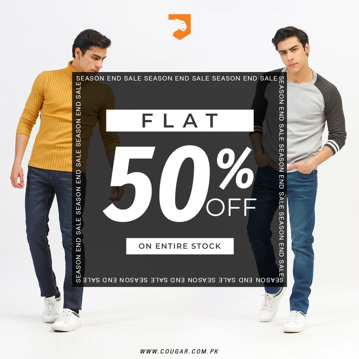 All New Jackets at FLAT 50% OFF on Season End Sale. For more details:    #cougarclothing #cougarcrew #jointhecrew #eoss #newstyles #sale #men #onlineshopping #lahore