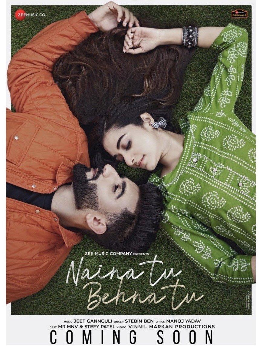 NEW SONG 🎸  #NainaTuBehnaTu by #MelodyKing coming this 27th January. 🎸  #MelodyKing #HitGannguli @jeetmusic @stebinbenmusic @manojkikalam #MrMnv @StefyPatel @VinnilM @anuragbedi #ZeeMusicOriginals @ZeeMusicCompany