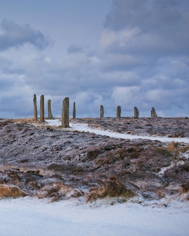 A touch of snow just adds to the beauty of this #UNESCO World Heritage site in #Orkney 😍❄️ 📍 Ring of Brodgar 📷 IG/@orkneycom  ❗ For now travel is not permitted. Our content is intended as inspiration for future visits only. #StayHome #StaySafe ❗