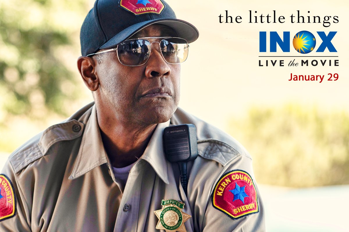 Denzel Washington, an Academy Award Winner plays a role of Joe 'Deke' Deacon, a Gifted Detective in the Psychological Crime Thriller 'The Little Things' coming to #INOX on January 29.  #DenzelWashington  #TheLittleThingsMovie @warnerbrosindia @DenzD