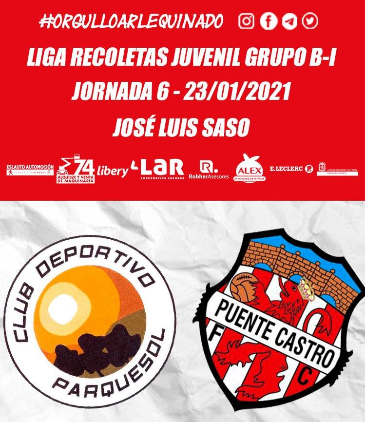⏱️ Final  ➡️ @CDParquesol 'B' 2️⃣-0️⃣ @PuenteCastroFC  🏆 Jornada 6-Liga Recoletas Grupo B-I  ⚽ ¡Concluye el encuentro en el José Luis Saso!  #OrgulloArlequinado 🔴⚪ #VaPuenteVa #SomosFútbol #SomosFormación