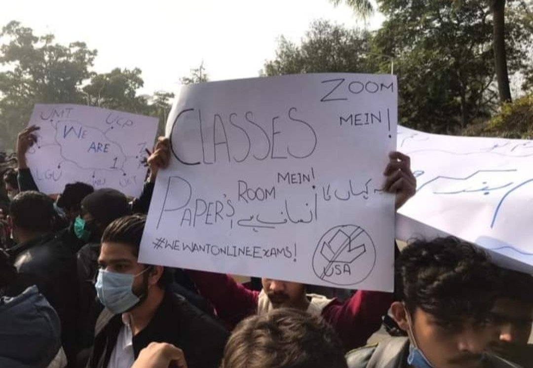 Classes #Zoom mein aur #Papers #Room mein.  Ridiculous! #OnlineExam_IsOurRight