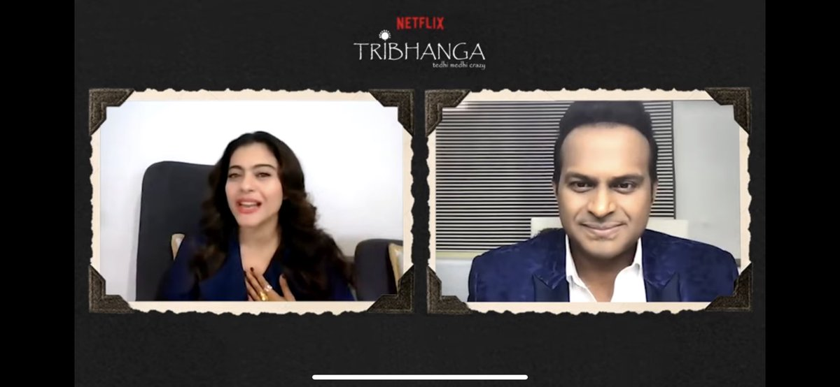 .@ajaydevgn had played a big part in my life: @itsKajolD  I genuinely love the 2 of you #Kajol & #AjayDevgn! Couples challenge each other & make each other better. U are truly a beautiful example of that  Full Vid:   #SidK #Tribhanga @ADFFilms @NetflixIndia