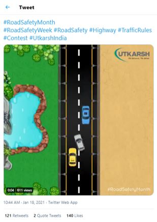 @utkarshindialtd Here is the perfect screenshot of safety regulation violence!  #RoadSafetyMonth  #RoadSafetyWeek #RoadSafety #Highway #TrafficRules #Contest #UtkarshIndia   Join in friends @janaXstar @Gangnam_Boys @Disqualifiers