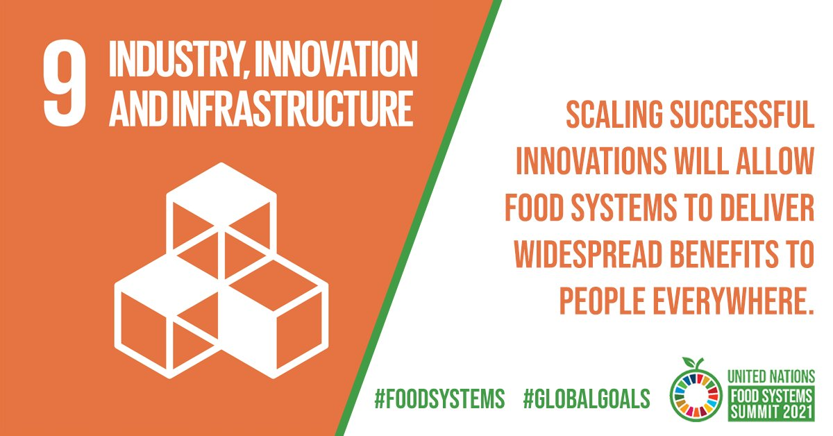 Innovations and new technology offer hope for aligning agriculture with ecology to make #FoodSystems part of the solution, not the problem.  By scaling up successful innovations, food systems can benefit people and 🌎 to help achieve the #GlobalGoals!  #SDG9