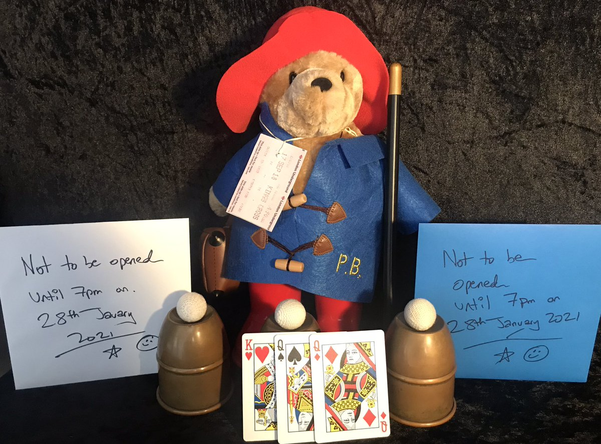 Paddington's getting ready! If you would like to experience an entertaining and intriguing magical experience from the comfort of your own home, please do get in touch. 😊  ☎️ 07946686258 👍 #zoom #magic #magicians #magicianmidlands #virtual #virtualevents