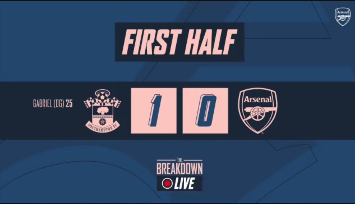 Arsenal have work to do to keep their hands on the FA Cup.   Send me your constructive thoughts on this 1st half performance for The Breakdown Live show please! We will discuss some at HT on the @Arsenal website & app….