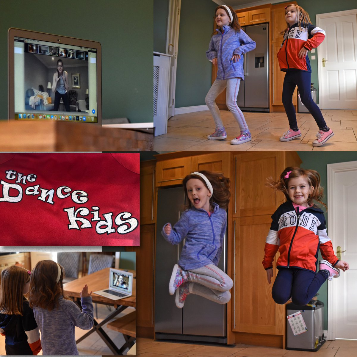 Zoom, Dance and Smiles. Thanks @Dance_Kids_Rock, Girls loved the class and seeing their friends 😊❤️💃 #dancekids #zoom