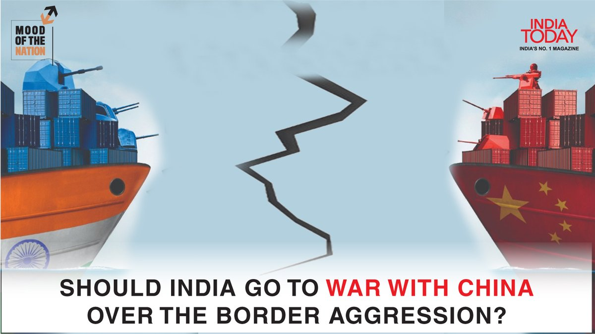 Should #India go to war with #China?  To find out, click  to download the Mood Of The Nation special issue of the India Today magazine #Magazinepromo