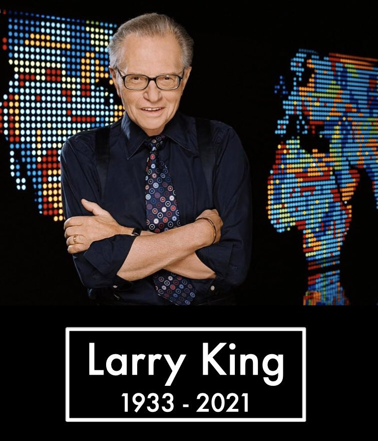 RIP Larry King, 87.  A television legend. https://t.co/AjFSS8bmT9
