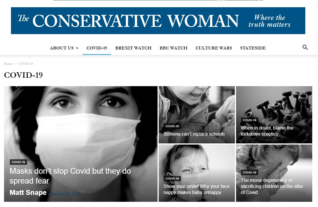 """Replying to @docrussjackson: 'The Conservative Woman' - """"Where truth matters."""" 😳"""