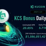 Image for the Tweet beginning: 💰 $KCS Bonus Daily Report