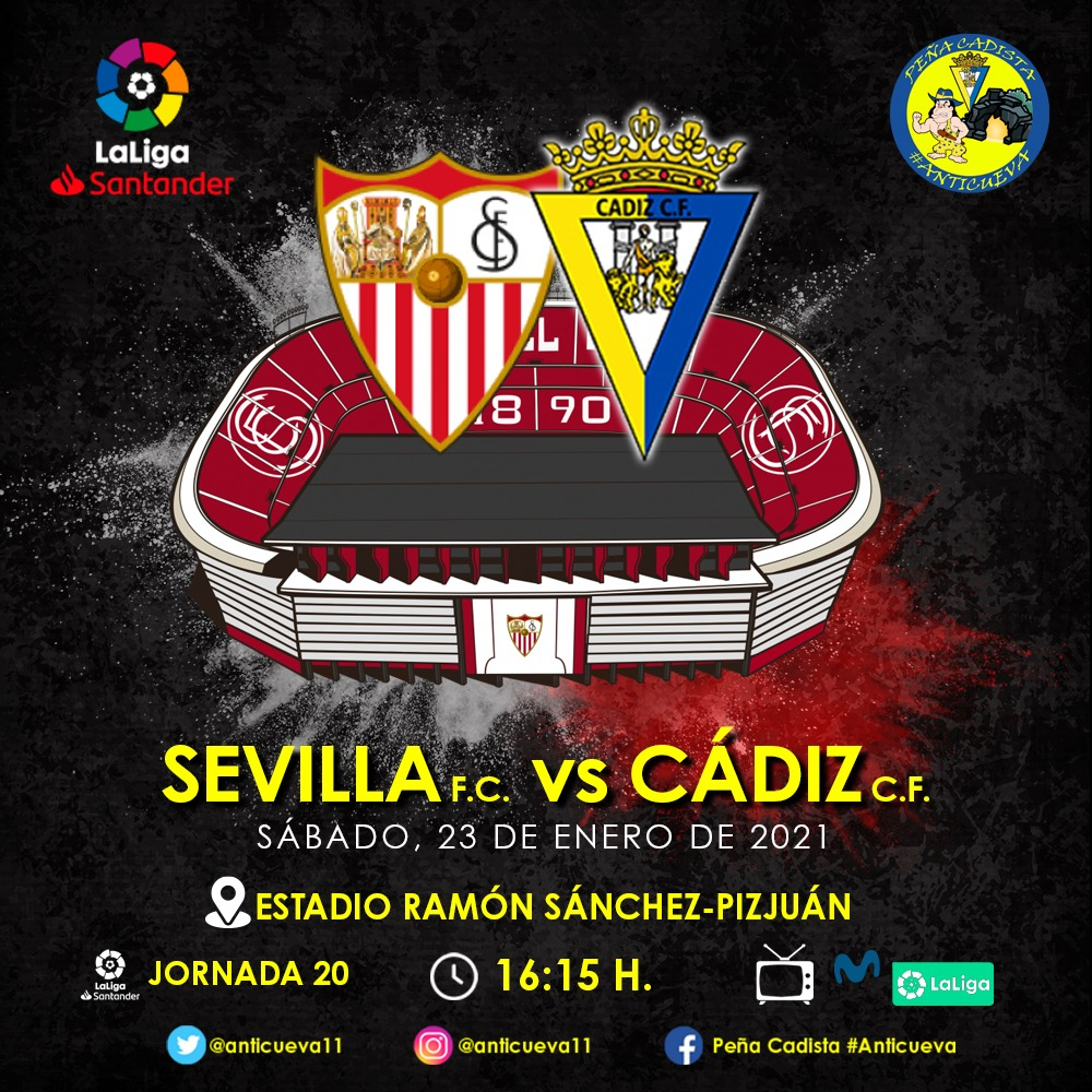 Hoy juega su santidad el Cádi.  Avanti Cádiiiii!!!💪🏻💪🏻💛💙💛💙💛 #SevillaFCCádiz #EseCádiOé #SiemprePositivo #Anticueva #LLNSN