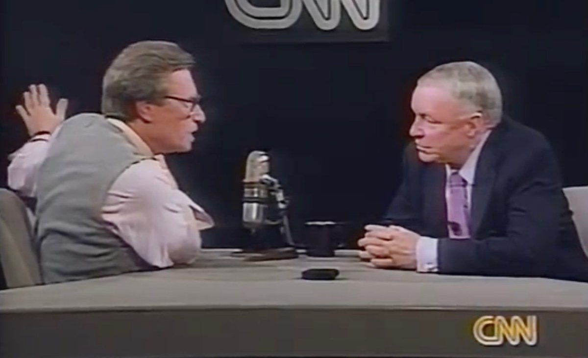 "If required to choose most classic Larry King Live"" ever, here it is — Sinatra, 1988:"