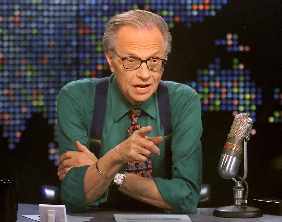 Replying to @Christine_Habib: A TV maestro just left this world 🙁 #LarryKing